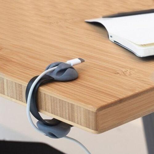Cute Desk Cable Clips Triple Slots Desktop Cable Organizer Cord Management
