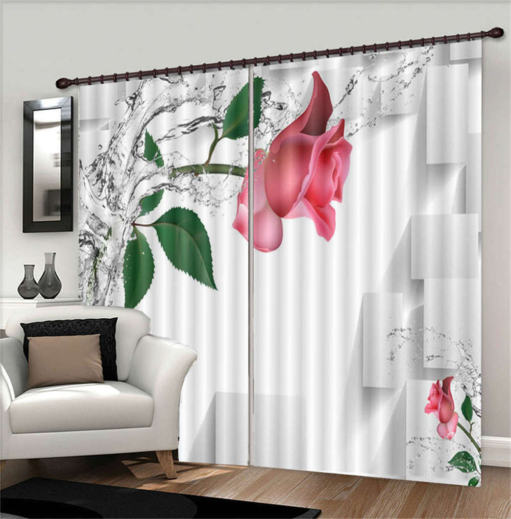 Flowing Clean Water 3D Blockout Photo Curtain Print Curtains Fabric Kids Window