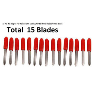 15-Pcs-45-Degree-For-Roland-GCC-Cutting-Plotter-Knife-Blades-Cutter-Blade-Tool