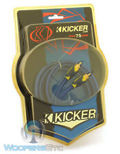 KICKER 05SV3 9.84FT TRUE 75 OHM INTERCONNECT VIDEO CABLE SHIELDED FLEXIBLE RCA