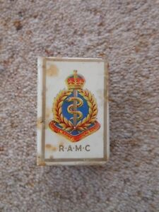 Royal-Army-Medical-Corps-RAMC-celluloid-matchbox-holder-Military