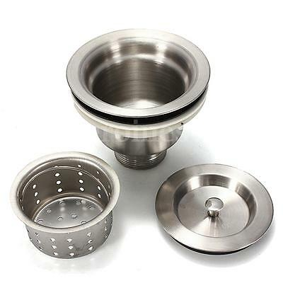 New Stainless Steel Sink Strainer Stopper Kitchen Waste Plug Basin Drain Filter