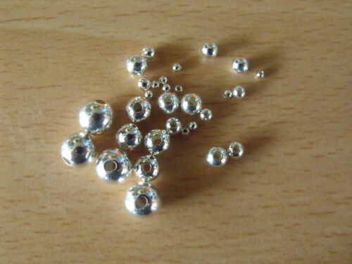 925 SOLID STERLING SILVER ROUND SEED BEADS 6 /& 8 mm FOR JEWELLERY MAKING S5