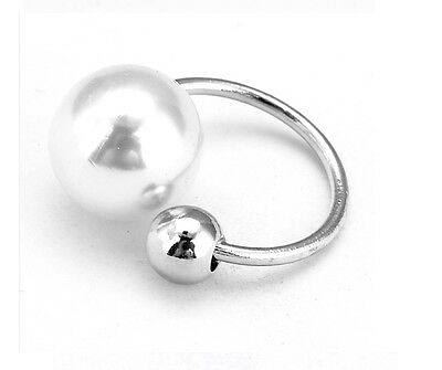 Fashion Silver Gold Pearl Wrap Ear Cuff Earring Cartilage Clip On NO Piercing