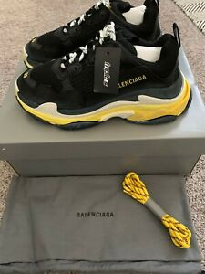 Triple s cloth trainers Balenciaga White size 38 EU in Cloth
