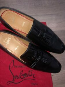 low priced 00f61 18d8f Details about Christian Louboutin Men Dandelion Tassel Flat Patent Leather  Black 43.5