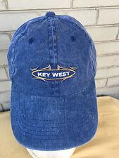 Key West Florida Denim Strapback Tropical Tourist Baseball Cap Hat