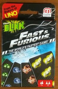 Fast /& Furious Blink Card Game from the makers of UNO Mattel NEW