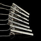 Fashion Men Metal Silver Tone Simple Necktie Practical Decor Tie Bar Clasp Clip