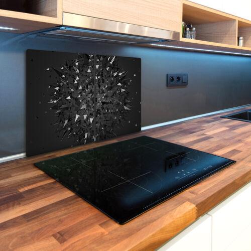 Glas-Herdabdeckplatte Ceranfeldabdeckung 2x40x52 Zweiteilig 3D-Abstraktion