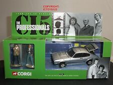 CORGI 57401 PROFESSIONALS SILVER FORD CAPRI DIECAST MODEL CAR + METAL FIGURES