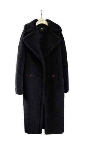 FA1 Luxus Damen Teddybär Feel Übergröße Kunstpelz Langer Mantel Runway Übergröße