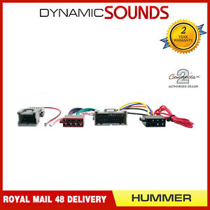 CT20HU01-Autoradio-Iso-Cablage-Harnais-Adaptateur-Cable-pour-Hummer-H1-H2-H3