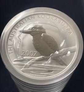 2007-Australia-1-oz-999-Silver-Kookaburra-BU-From-Mint-Roll