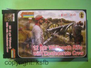 1-72-Strelets-183-US-Buergerkrieg-Sued-Artillerie-12-pdr-Whitworth-Kanone-Crew