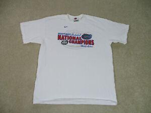 Nike-Florida-Gators-Shirt-Adult-Extra-Large-White-Basketball-Final-Four-Men-A42