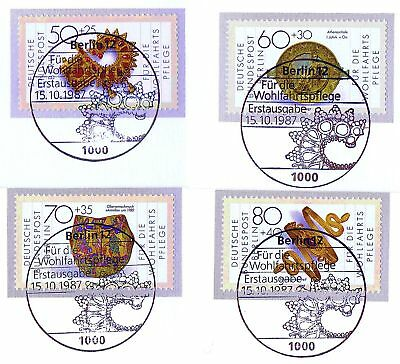Wohlfahrtmarken Nr 789-792 154 1a Berlin 1987: Schmiedekunst Saubere Stempel