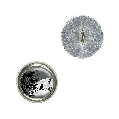 Barn Owl Flying in Night Sky Metal Craft Sewing Novelty Buttons Set of 4