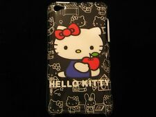 Hello Kitty Cover Case for iPod Touch 4th Gen Hello Kitty Apple Black Background