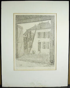 Claude-Grobety-1940-Per-La-Window-Engraving-Numeritee-6-60-And-Dated-1972