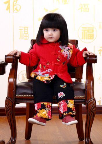 Año Nuevo Chino tradición Disfraz Niña 2 Piezas De Traje Set Partido Traje size1-4 años.