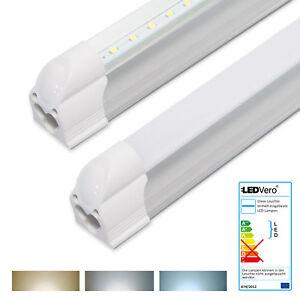 1-25x-LEDVero-T5-Leuchtstoffrohre-LED-Tube-komplett-Lichtleiste-Rohrenlampe