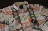 Tommy Bahama Shirt Papa Plaid Burnt Copper Ls Large L T314674