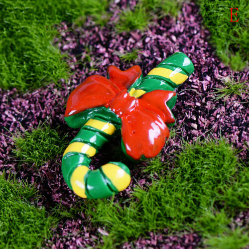 6x Christmas Gift Box Crutches Miniature Figurine Xmas Decor Micro Landscape SS