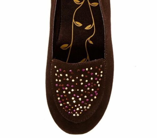 Details about  /Kenneth Cole Reaction Dip Gloss Flat Little Big Kid Girls Size 5 M Brown Studs