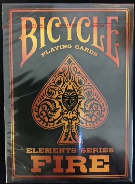 Top Fire Elements Series Deck Bicycle Playing Cards Poker Size USPCC  EO75