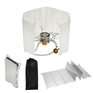 Aluminium-Windschutz-Campingkocher-Gaskocher-faltbar-Outdoor-Alu-Falt-Windschutz