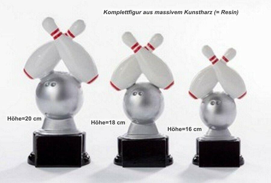 3er Serie Pokale Bowling ST391091011 (H=20-16cm) inkl.Gravur 46,75 EUR