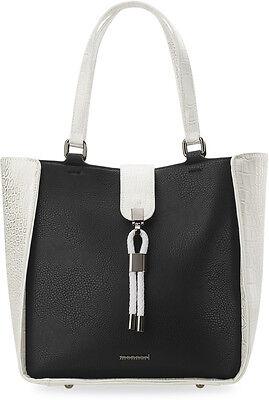 Damentasche 2 in 1 Shopperbag und Clutch Monnari Details glänzend schwarz-silber