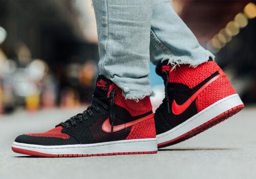 Prohibido 919704 001 Flyknit Tama Bred Jordan Red 1 Air High Retro Black 8 Nike o a6wOzpqx