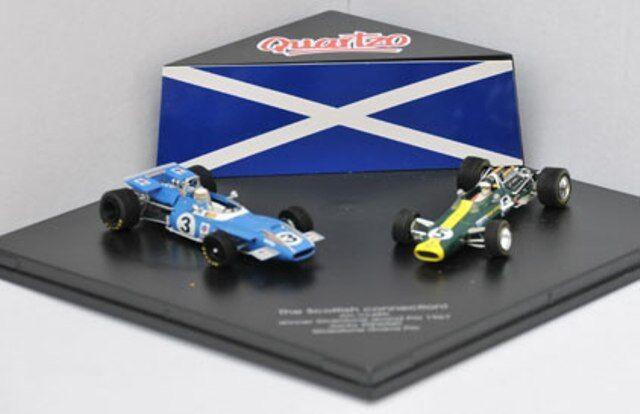 Quartzo LE-5 conjunto de F1 de conexión escocés Jim Clark Lotus & J Stewart Matra 1 43