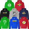 BAZINGA BIG BANG THEORY SHELDON Green Lantern Soft kitty Riddler PULLOVER HOODY