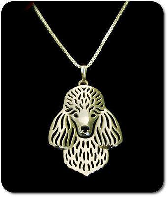 Anhänger Hunde Hund Kopf Versilbert Pomeranian Halskette Set Kette