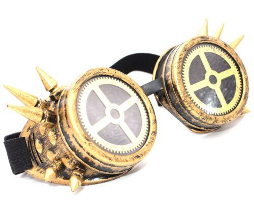 Gafas de Soldadura Cyber Steampunk Cosplay Gótico antigua victoriana Antique Victorian Picos Led Lupa