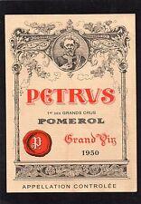 POMEROL 1ER GCC VIEILLE ETIQUETTE CHATEAU PETRUS 1950 73 CL  §01/01/17§
