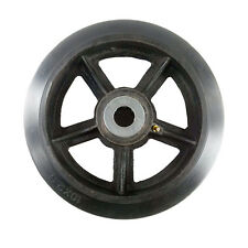 10 X 2 12 Rubber On Cast Iron Wheel With Bearing 1 Ea
