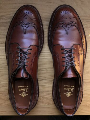 Alden Walnut Longwings – 8.5D – Worn 2x