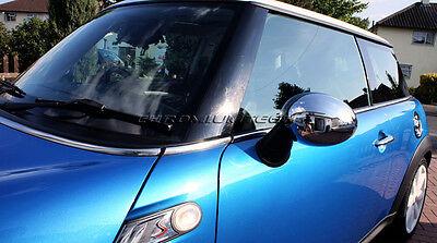 Set MK2 Mini Chrome Wing Mirror Covers Cooper S Clubman One JCW R56 Rhd Seulement
