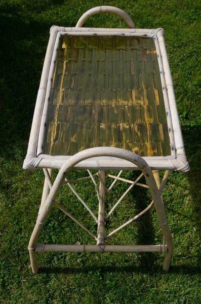 Sidebord, bambusflet, b: 35 l: 55 h: 46