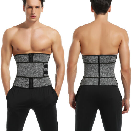 Men/'s Workout Waist Trainer Tummy Slim Sauna Body Shaper Belt Abdomen Shapewear