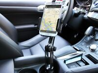 Car Mount Cell Phone Holder Extended Neck For Samsung Note 5 / 4 Cradle Stand