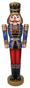 Nutcracker-Lifesize-5-039-Prop-Animated-Giant-Pre-Lit-Outdoor-Soldier-Christmas