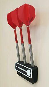 Wandhalter für Dartpfeile mit Pfeil Logo für Steeldarts und E-Darts