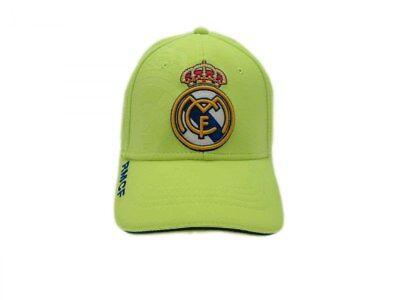 Cappello Real Madrid Ufficiale Blancos Originale Visiera Adulto Berretto Fluo