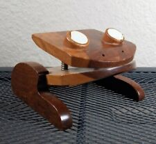 Frog Toad Paper Holder Spring Clip By Artecma Made In Columbia Beautiful Wood
