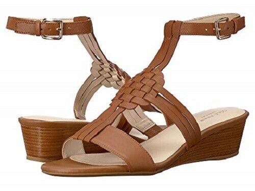 Brand New Cole Haan Women's  Findra Woven Slide Wedge Sandals